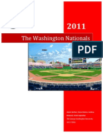 Analytical Analysis and Road Map - The Washington Nationals