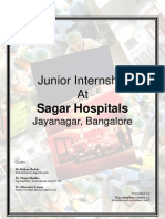 Internship at Sagar Hospital Final Report 2008 09 by Rijo Ste 1382