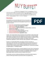 Menu y Buffet