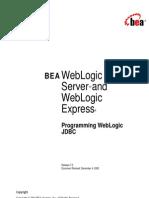 Programming WebLogic JDBC