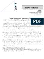 Trinity Broadcasting Donates LPTV Stations MMTC Secures Ownership and Training Opportunities for Minorities and Women