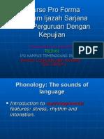 Course Pro Forma PPGTESL1 TSL3101 Introduction to Linguistics