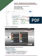 Uebungsaufgaben Internet -Mediatheken der Sendeanstalten
