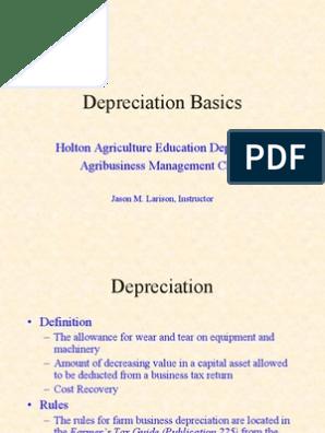 Depreciation   Depreciation   Tax Deduction