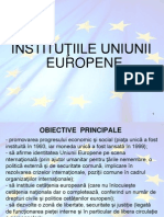 INSTITUTIILE UE