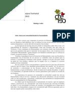 Programa Territorial FHUMA 2012.