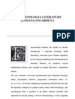 Fenomenologia Literatury Romanan Ingardena