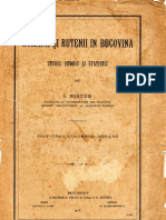 Romanii Si Rutenii in Bucovina