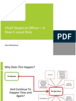 The Chief Skeptical Officer - A New C-Level Role