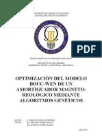 Optimizacion Del Modelo Bouc-Wen de Un Amortiguador Magneto