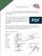 Declaracion VI Foro Latinoamericano de Prácticos