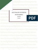 Lectura de Contextos Blog Mateo Fenix Pk