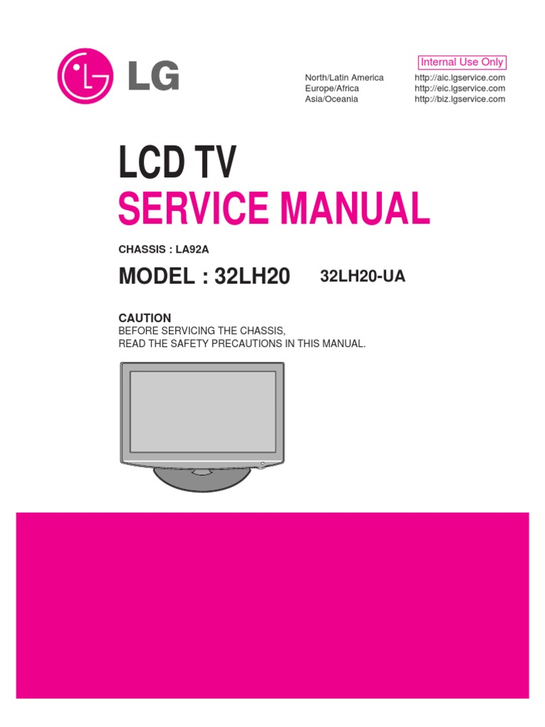 LCD TV 32LH20, 32LH20-UA (Chassis LA92A) Service Manual | Printed Circuit  Board | Soldering