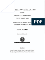 Organization Evaluation of the Euclid Police Department - final report