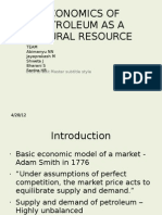 Economics of Petroleum as a Natural Resource