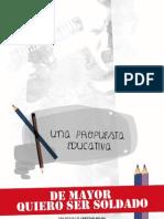 """""""DE MAYOR QUIERO SER SOLDADO"""" PELÍCULA DE CHRISTIAN MOLINA"""
