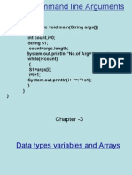 Data types variables and Arrays