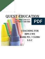 Best Coaching Classes for IBPS CWE Bank PO Clerk SSC Top Institute East Delhi Laxmi Nagar Call @ 9891344571