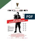lista de distribución de cines para el ESTRENO - DE MAYOR QUIERO SER SOLDADO