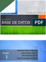 Historia Base de Datos