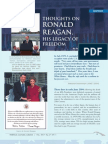 Thoughts On  Ronald Reagan, His Legacy Of Freedom