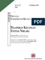 ED PSAK 45 Revisi 2010 Pelaporan Keuangan Entitas Nirlaba
