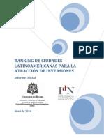 Ranking de Atraccion de Inversiones - Ciudades de LATAM