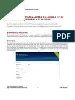 01 El Frontend y El Backend de Joomla 16
