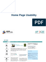 Home Page Usability Presentation - UPA China -20060729