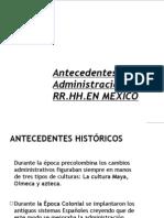 Antecedentes de La ARH en Mexico