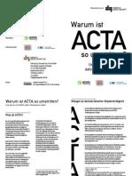 Warum ist ACTA so umstritten?