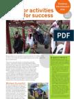 Outdoor Activities, Plan for Success
