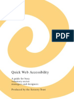 Quick Web Accessibility - Sensory Therapy Gardens Manual
