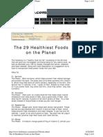 29 Healthiest Foods