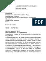 Acta CONFECH UPLA, 15 de Octubre