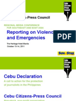Cherry Ann Lim - The Cebu Declaration and other initiatives to improve media safety - Manila 14 Oct 2011