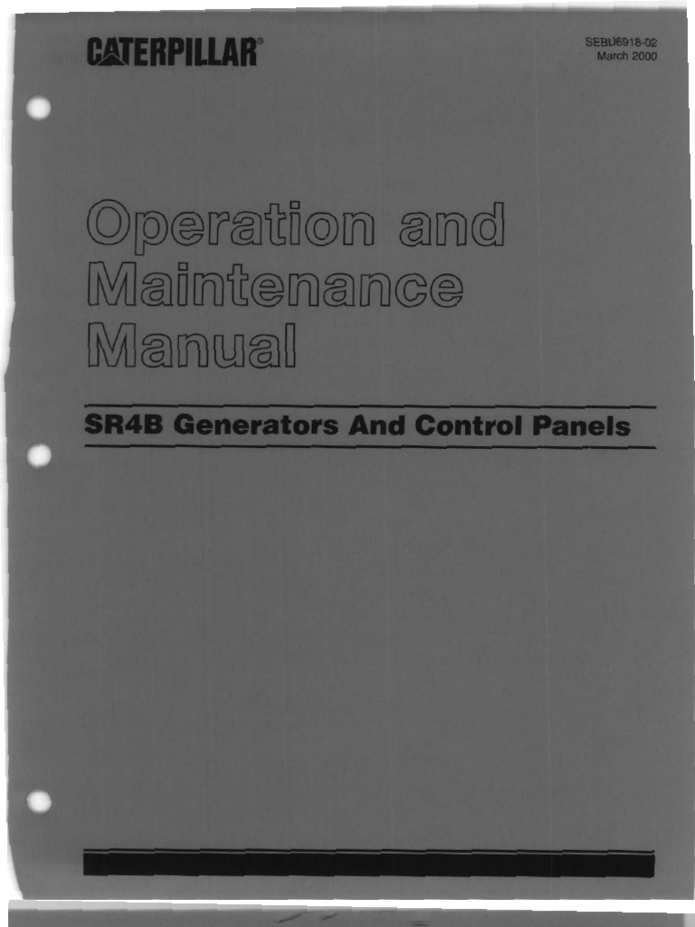 1507603863 caterpillar operation and maintenance manual sr4b generators Caterpillar SR4B Model Specification Sheet at bayanpartner.co