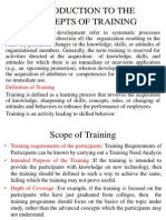Introduction to the Concepts of Training