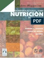 Conoc Actuales Sobre Nutricion