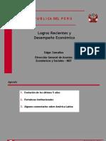 LOGROS Y DESMPEÑO ECONOMICO SOCIALES