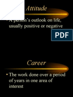 Career Orientation Definitions