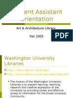 Student Assistant Orientation