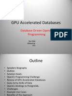 GPU Accelerated Databases, Speeding Up  Database Time Series  Analysis Using OpenCL