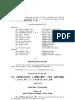 LLC Revised Revenue Code