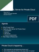 Overview Presentation - SQL Server for Private Cloud