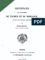 Sentences du Talmud 1