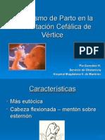 mecanismo de parto en cefalica de vertice