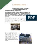 07.- Conexión de un  ESTEREO O UNIDAD PRINCIPAL