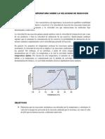 Practica Efecto de La Temperatura Sobre La Velocidad de Reaccion