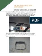 41.- Instalación de una PANTALLA TFT en el techo